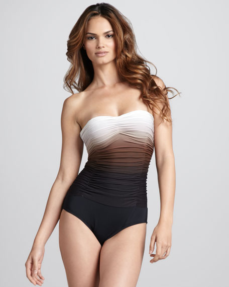 Sea Shade Ombre Maillot, Black