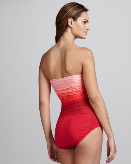 Sea Shade Ombre Maillot, Crimson