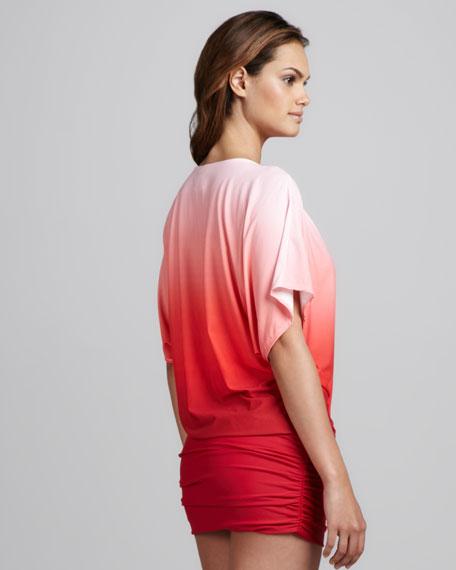 Sea Shade Kimono Coverup, Crimson