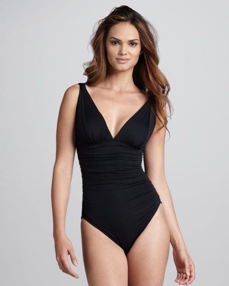 Saint Lucia Bay Maillot, Black