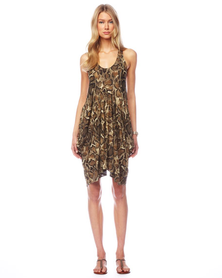 Snake-Print Coverup
