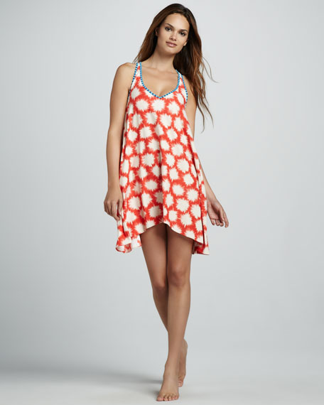 Sparks-Print Coverup Dress