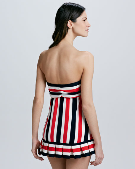 Port Striped Swimdress
