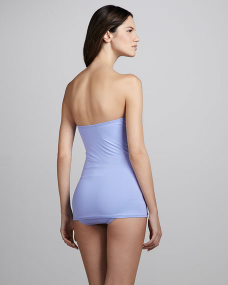 Miss Divine Hearts Bandeau Swimdress, Grapemist