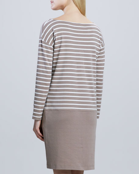 Striped Interlock Two-Zip Dress