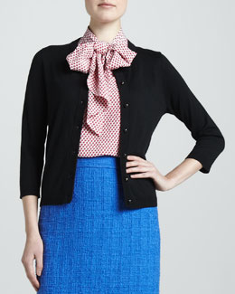 kate spade new york sofia cotton-silk cardigan