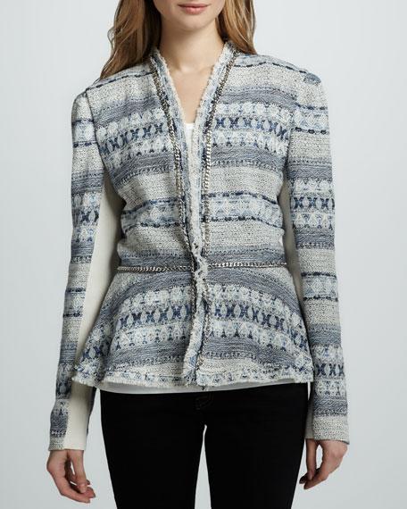 Chain-Trim Tweed Jacket