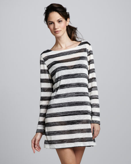 Dapper Derby Striped Coverup