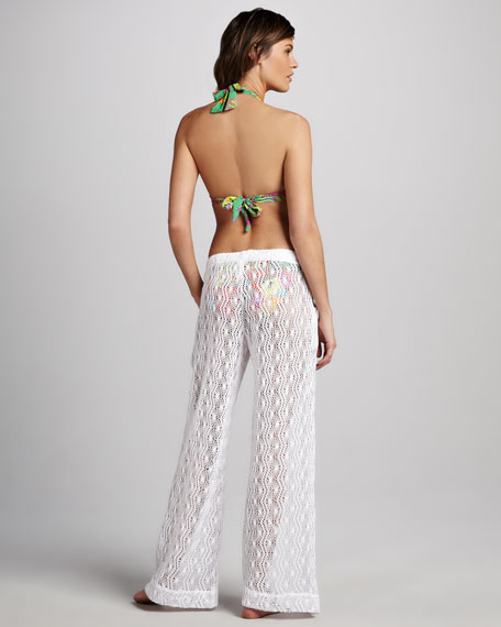 Boho Crochet Beach Pants