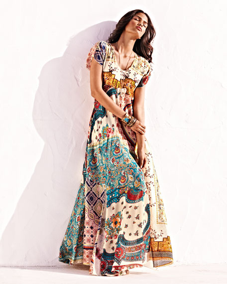 Long Patchwork Dress, Women's