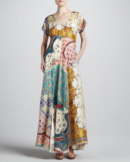 Long Patchwork Dress, Women's