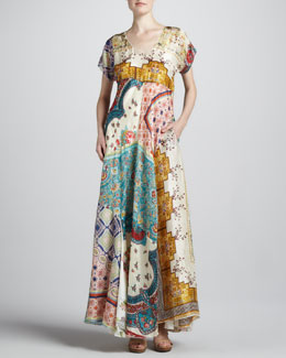 Johnny Was Collection Long Patchwork Dress