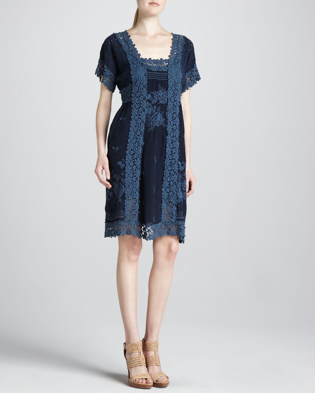Rose Garden Georgette Dress, Women's