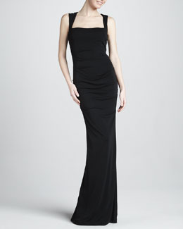 Nicole Miller Sleeveless Stretch-Jersey Gown