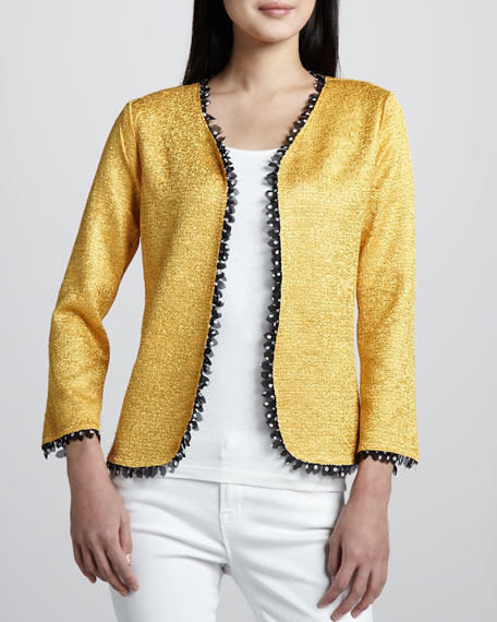 Reversible Petal-Trim Jacket