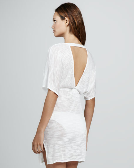 V-Neck Jersey Tunic, White