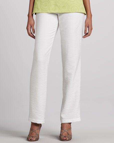 Cabo Straight-Leg Pants, White