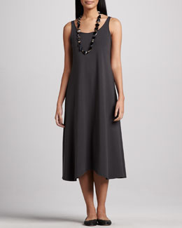 Eileen Fisher Sleeveless Jersey Long Dress