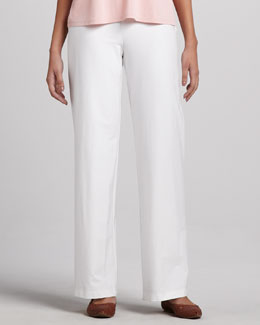 Eileen Fisher Modern Wide-Leg Pants, White