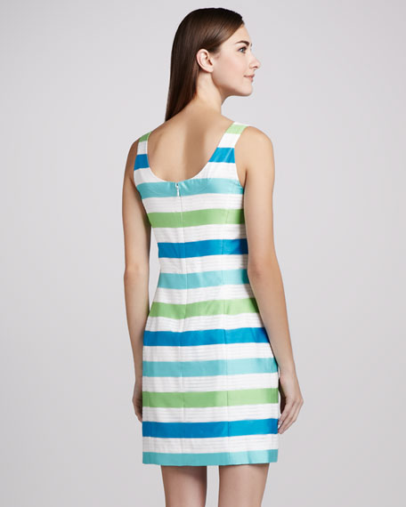 Henley Striped Corded Dress