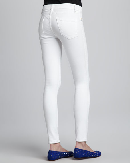 Spray-On Skinny Jeans, White