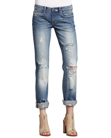 Relaxed Deconstructed Cuffed Jeans