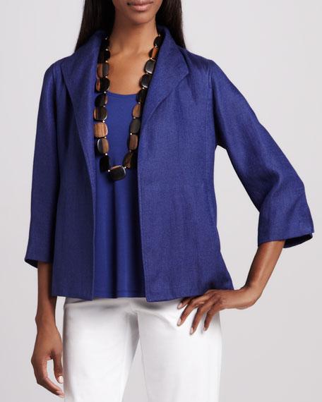 Linen Basketweave Jacket