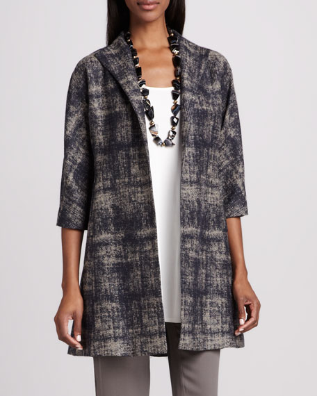 Illusion Jacquard Coat
