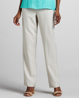 Caroline Rose Cabo Straight-Leg Pants, Natural