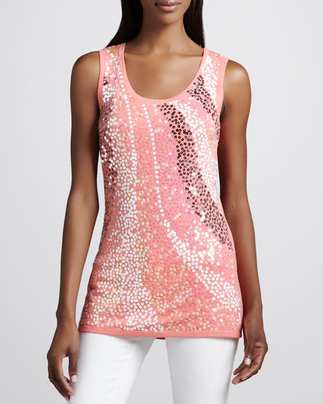 Wavy Sequined Shell