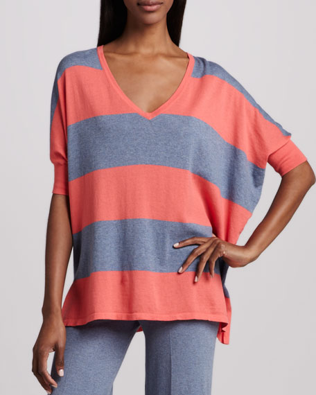 Pow Block-Stripe Pullover