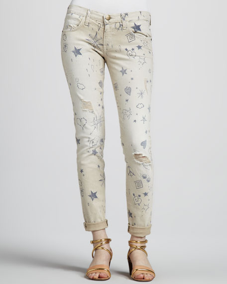 The Low-Rise Write-On Stiletto Jeans