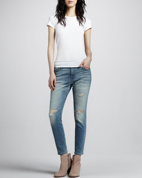The Slouchy Stiletto Jeans, Destroy Wash