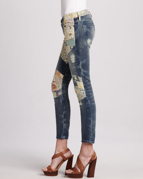 The Moto Patchwork Jeans
