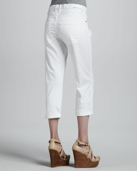 The Boyfriend Cropped Jeans, Sugar