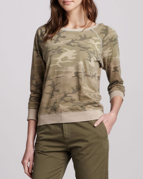 The Letterman Camouflage Knit Top
