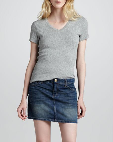 The Five-Pocket Sundown Denim Skirt