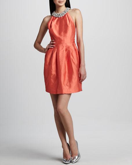 Helen Bejeweled Halter Dress