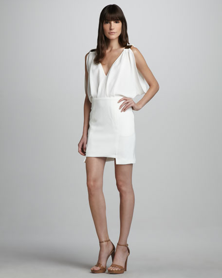 Cutaway Crepe Dress