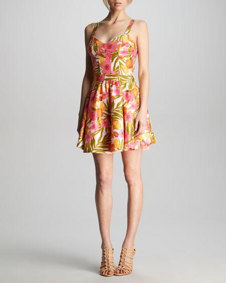 Kimmy Tropical-Print Dress