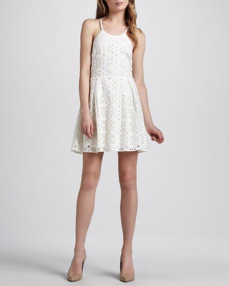 Eyelet Sleeveless Dress