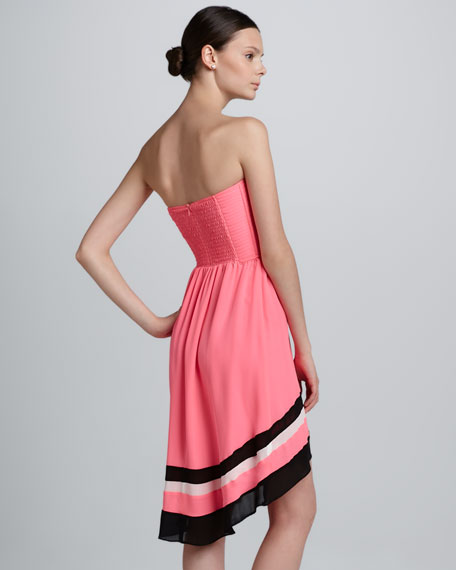 Strapless Arched-Hem Dress