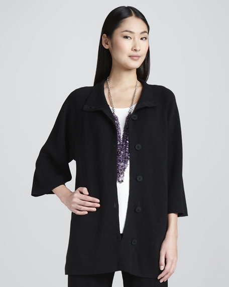 Stand Collar Jacket, Petite