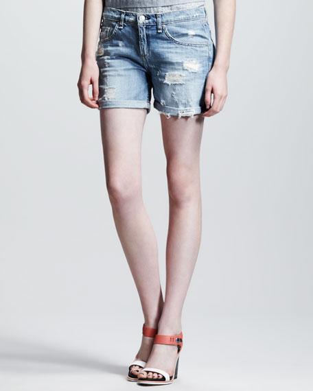 rag & bone/JEAN Tattered Boyfriend Shorts
