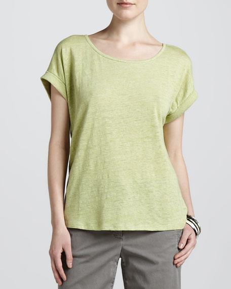Boxy Linen Jersey Top