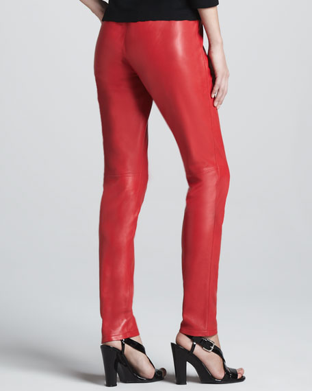 Colored Leather Leggings