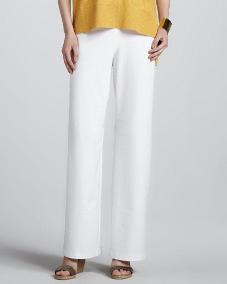 Stretch Crepe Wide-Leg Pants