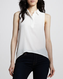 Equipment Francis High-Low Silk Top