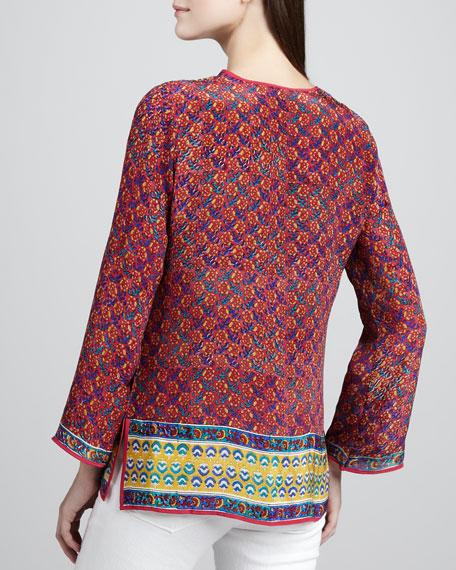 Rita Border-Print Tunic, Women's