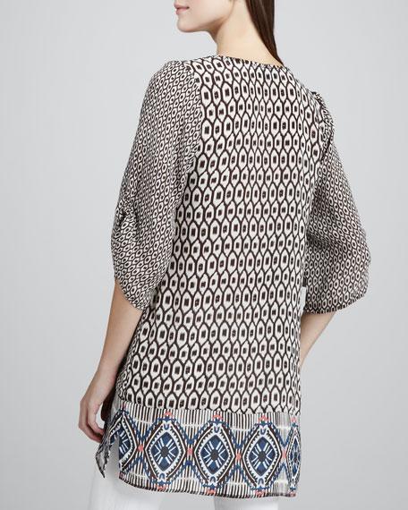 Sarah Ikat-Print Tunic, Women's